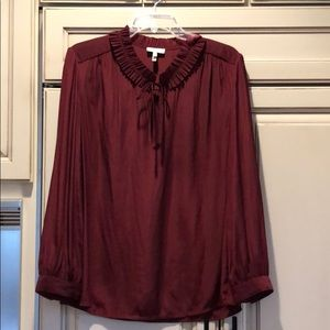 Joie silk burgundy top size large